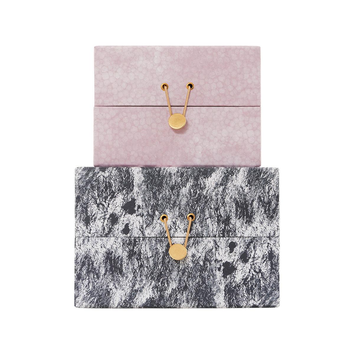Pack de Boite CARREE M rose et grise