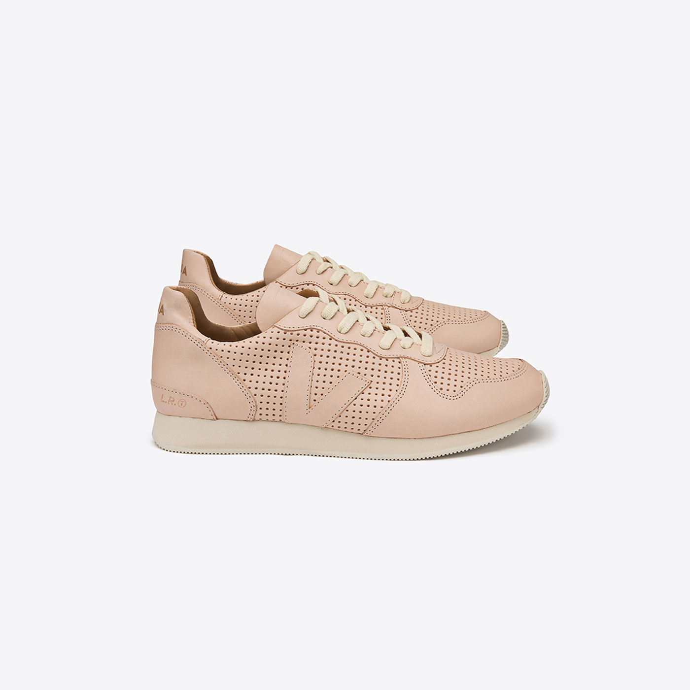 VEJA Holiday leather mat nude nude
