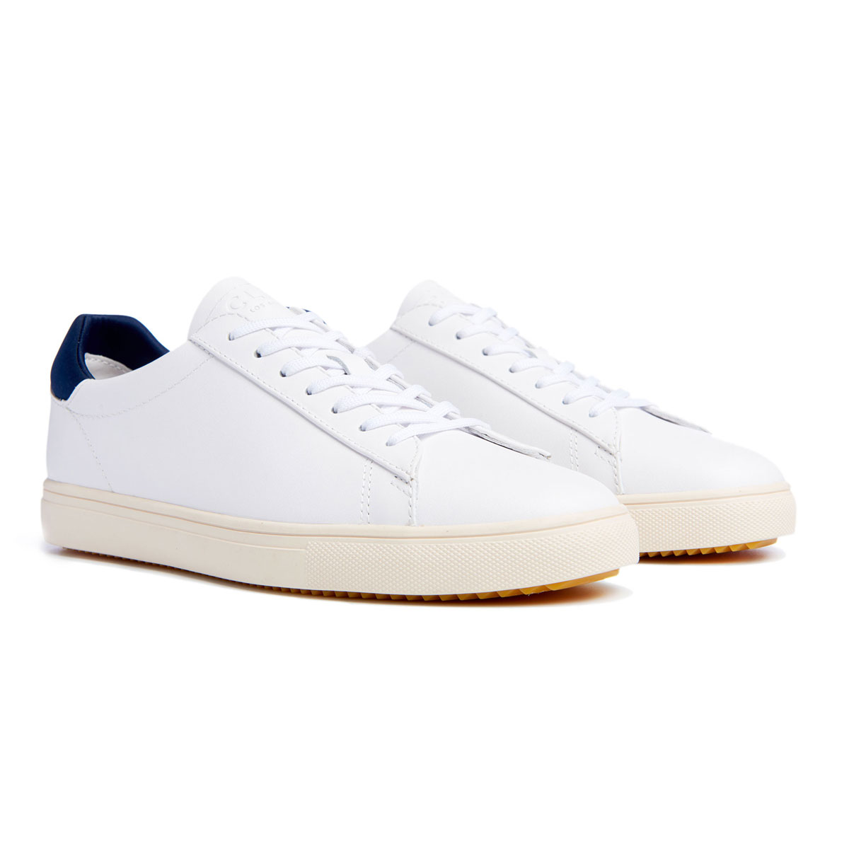 BRADLEY white leather navy