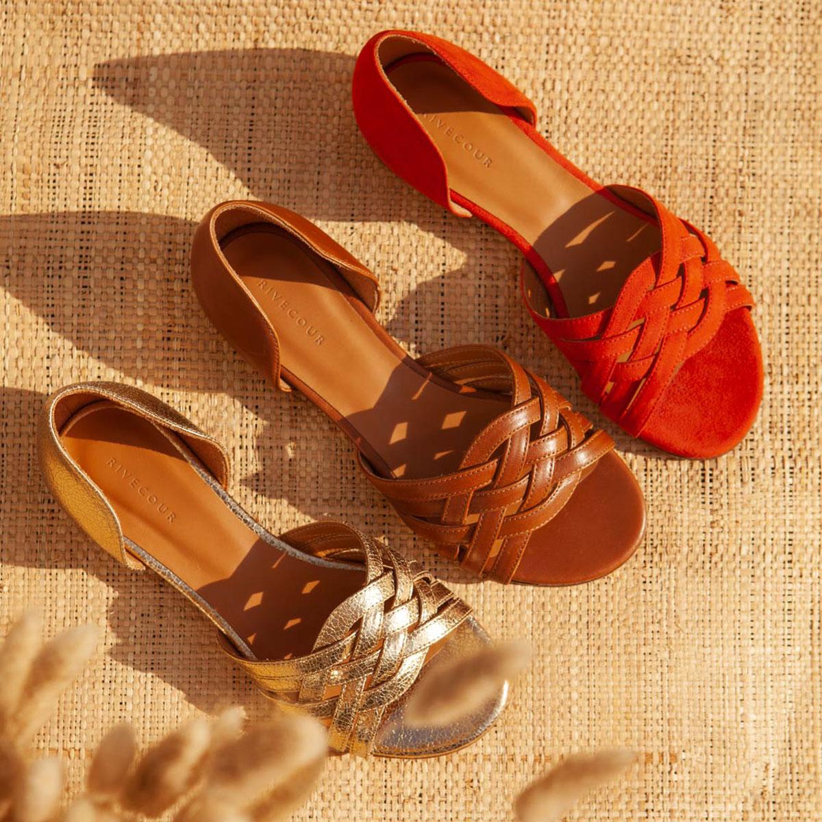 Sandales N°34 Orange