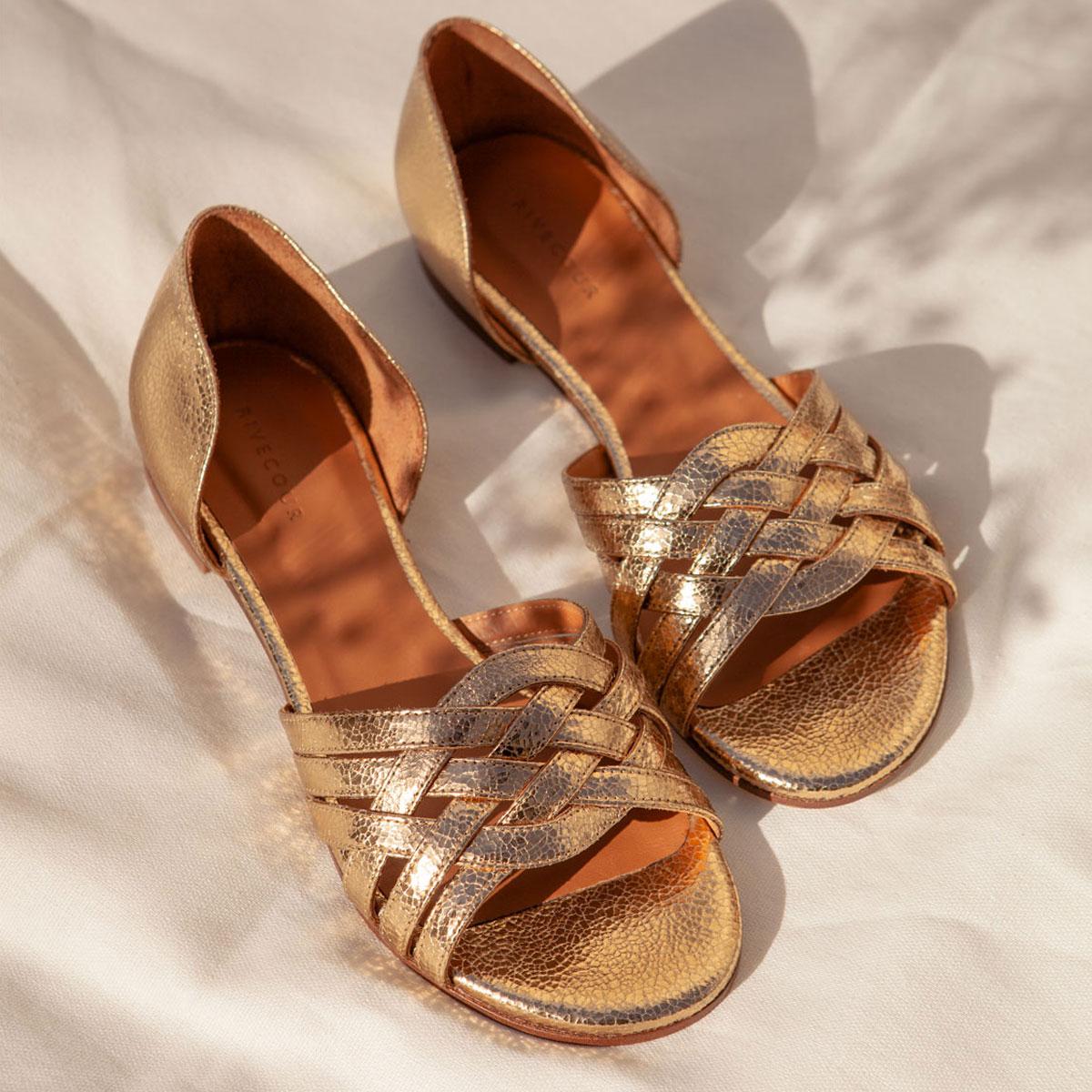 Sandales N°34 Gold