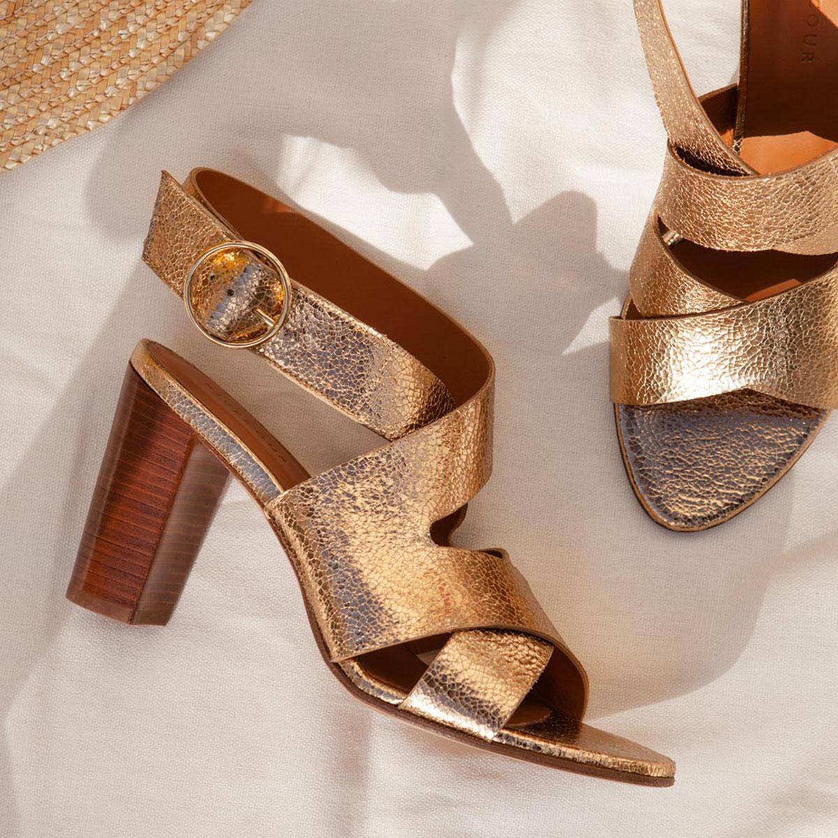 Sandales N°96 Gold