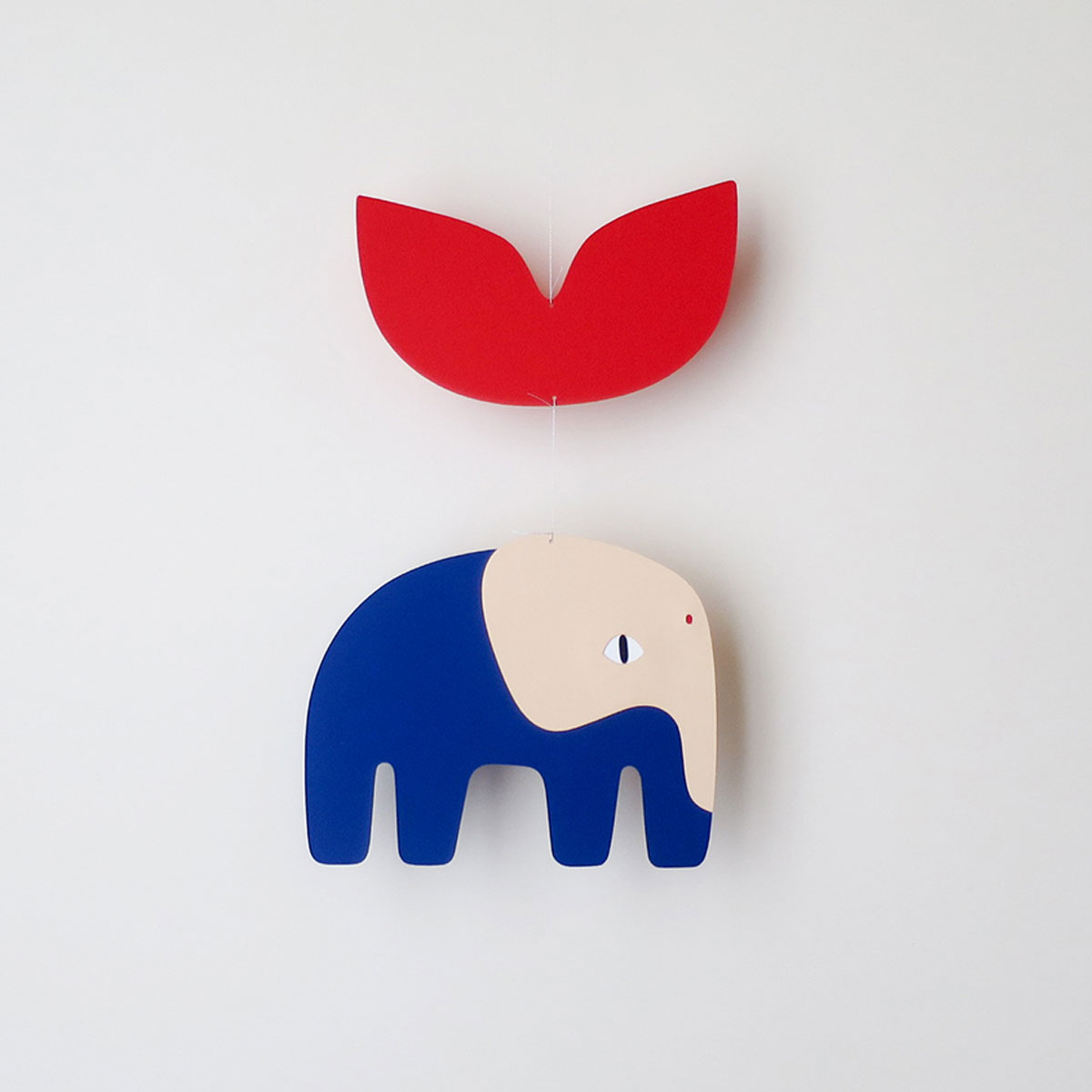 Mobile BLAISE elephant rouge