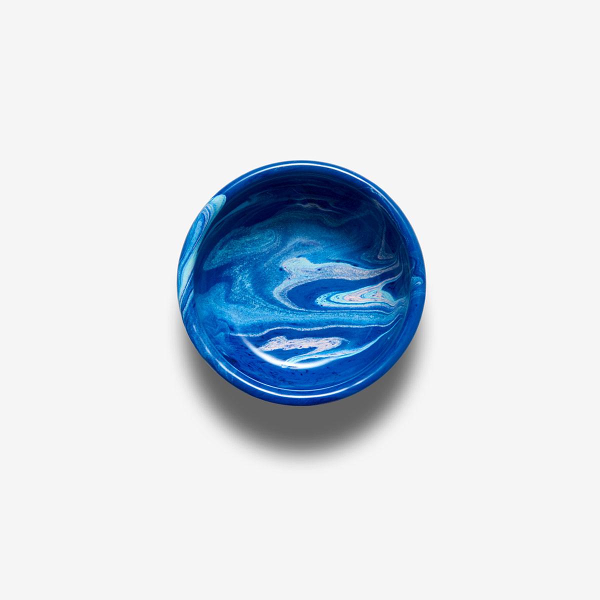 Bol émaillé Marble bleu