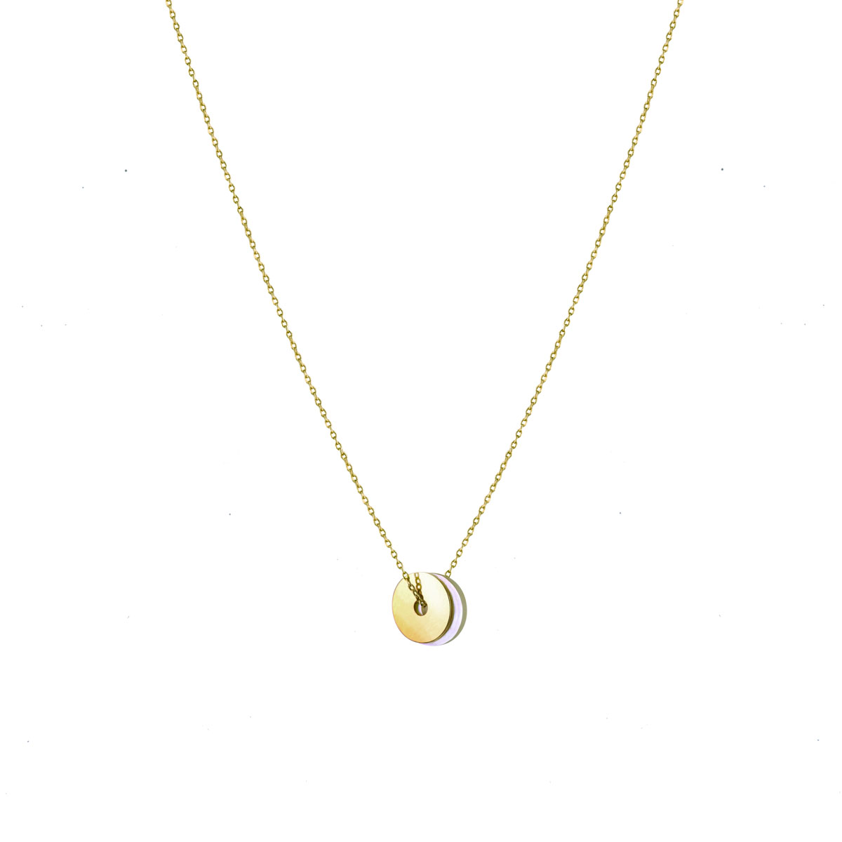 Collier DISC NACRE