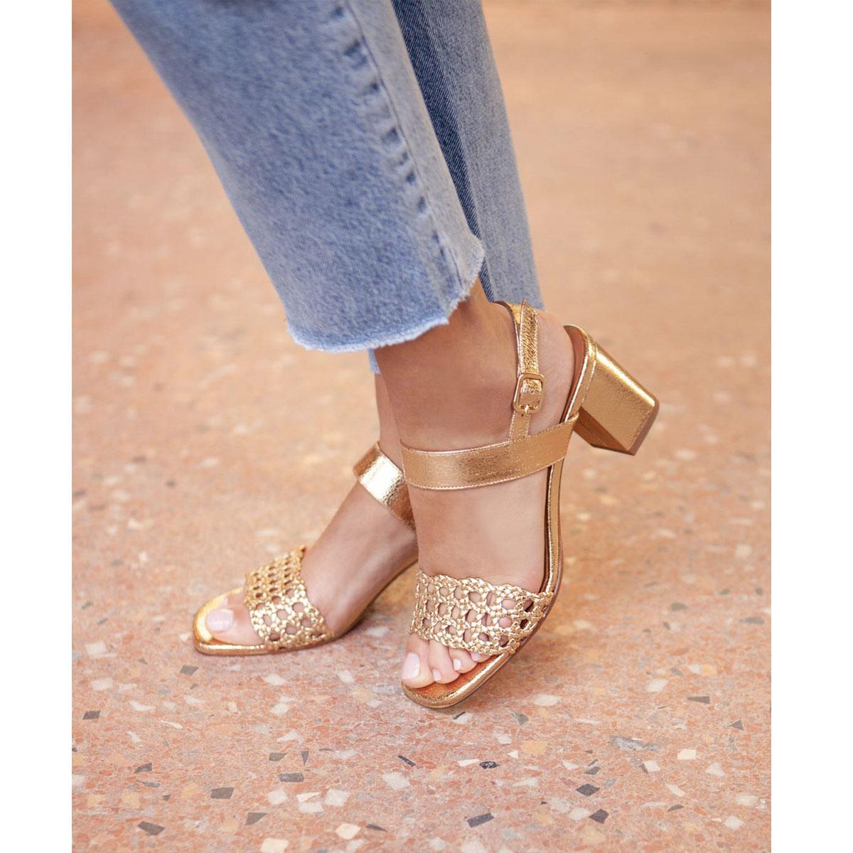 Sandales N°600 Gold