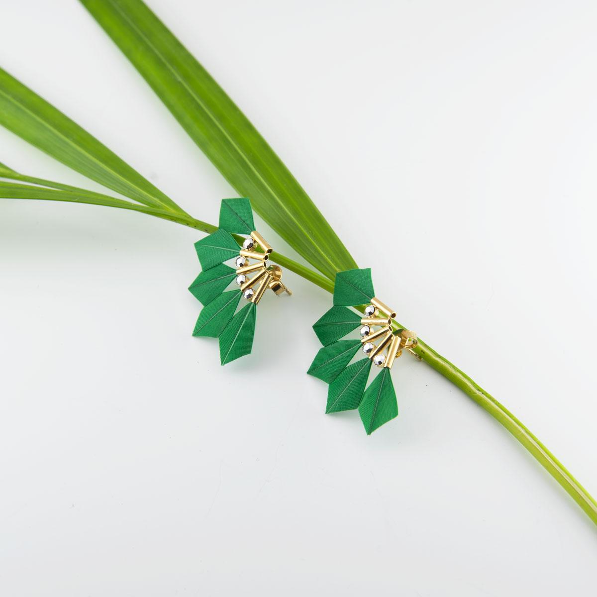 Boucles d'oreilles BABY PARROT vert kelly