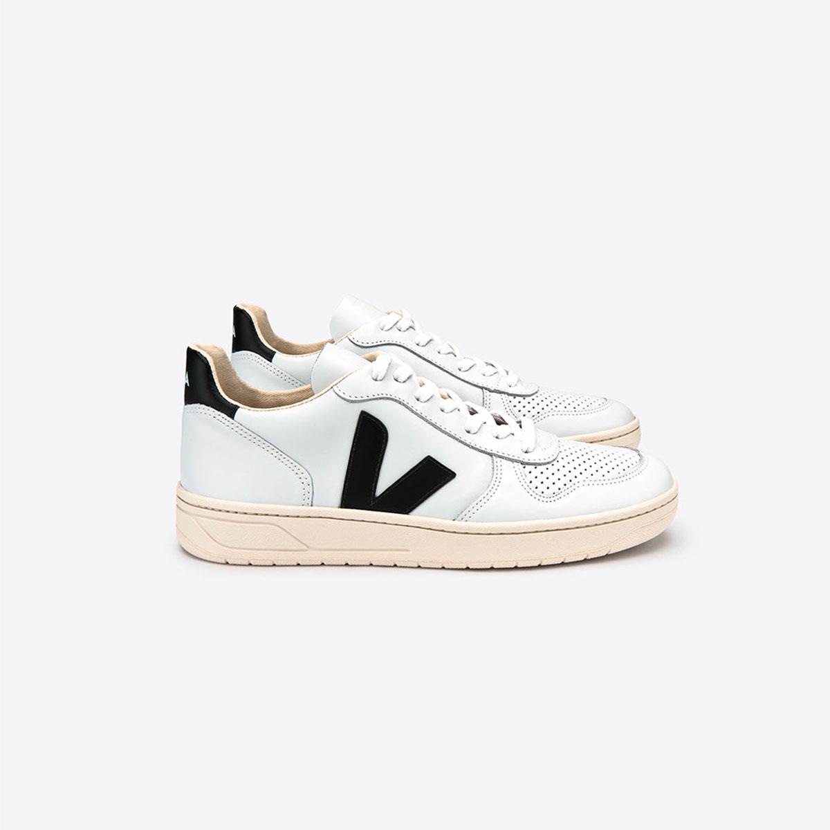 V10 Leather Extra White Black