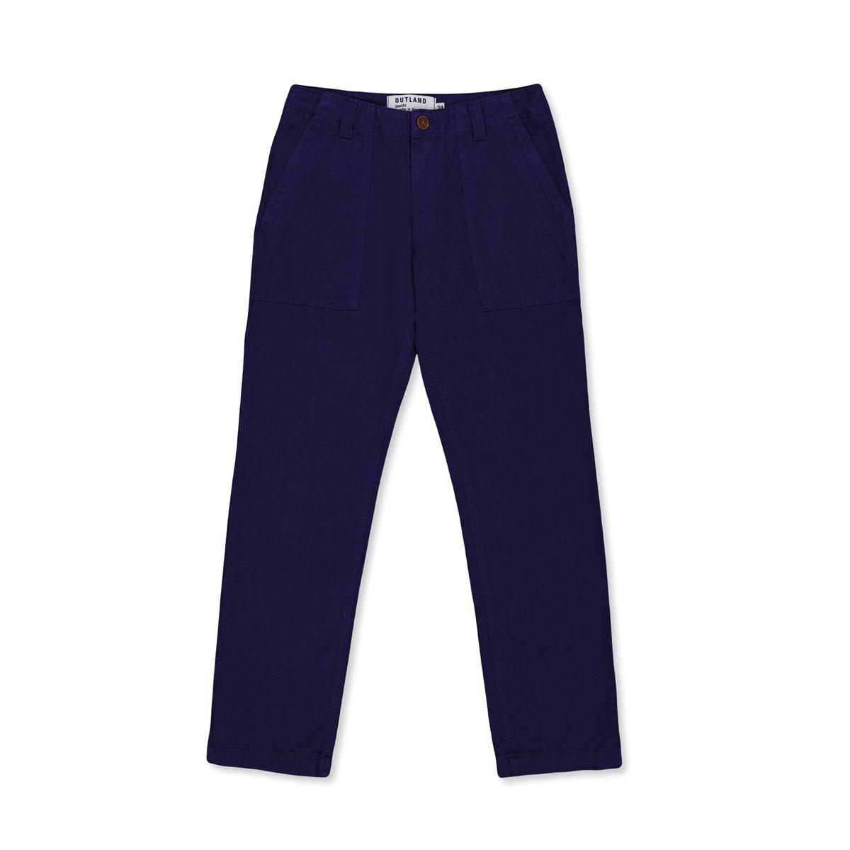 OUTLAND Pantalon FATIGUE Twill Indigo