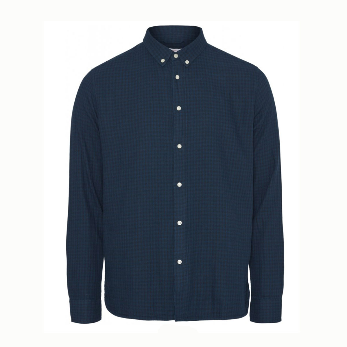 KNOWLEDGE Chemise LARCH Classic carreaux Blue