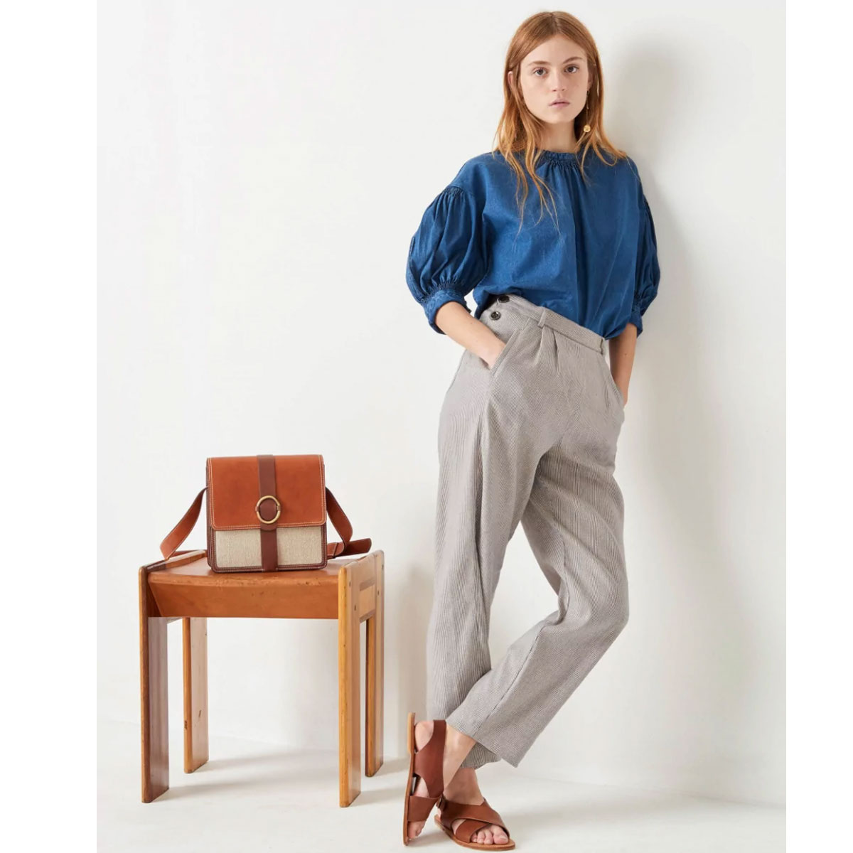 SESSUN Pantalon LEONARD Cloud blue