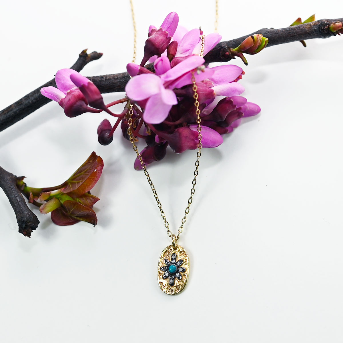 5 OCTOBRE Collier Manu Turquoise