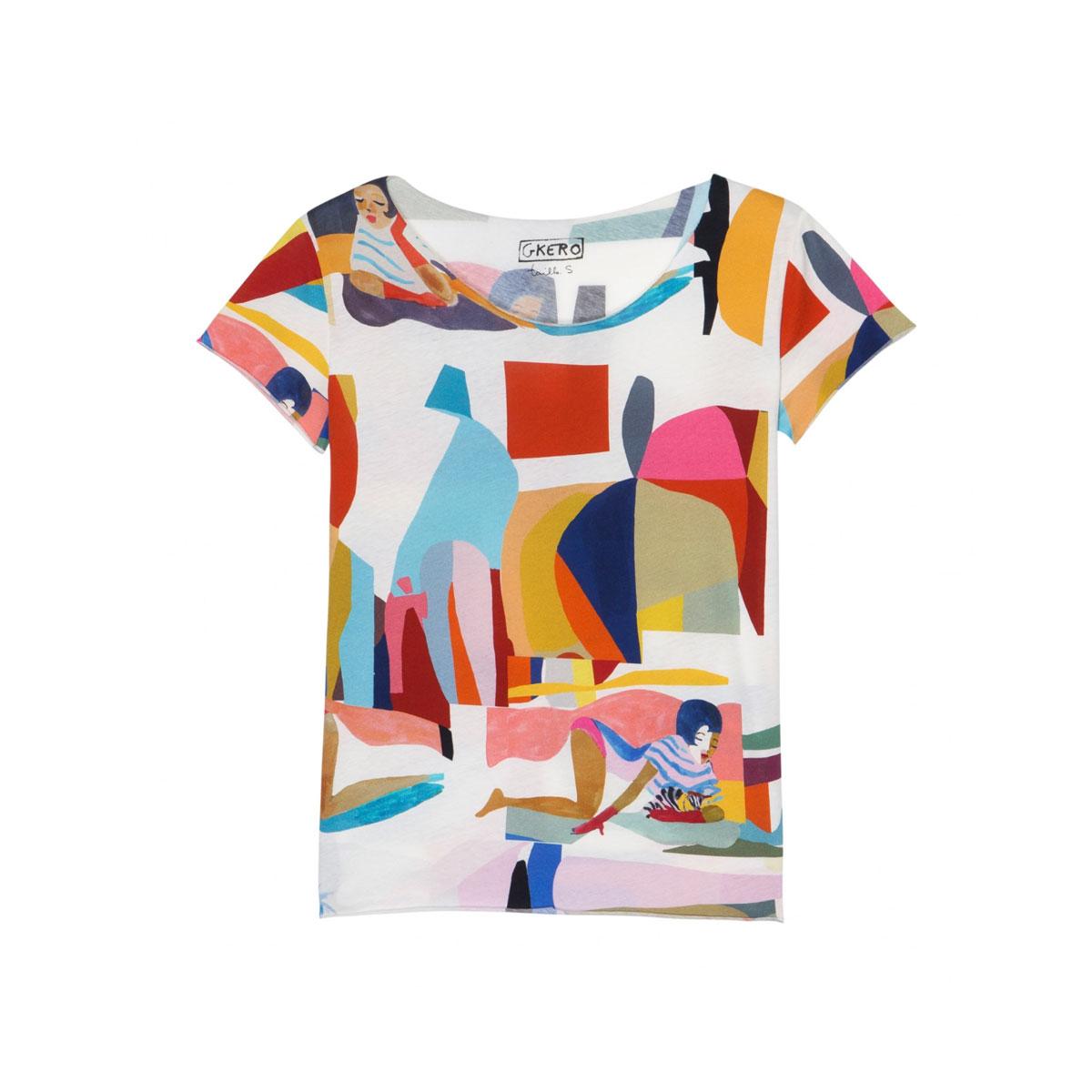 G.KERO Tee shirt ABSTRACT FUNK