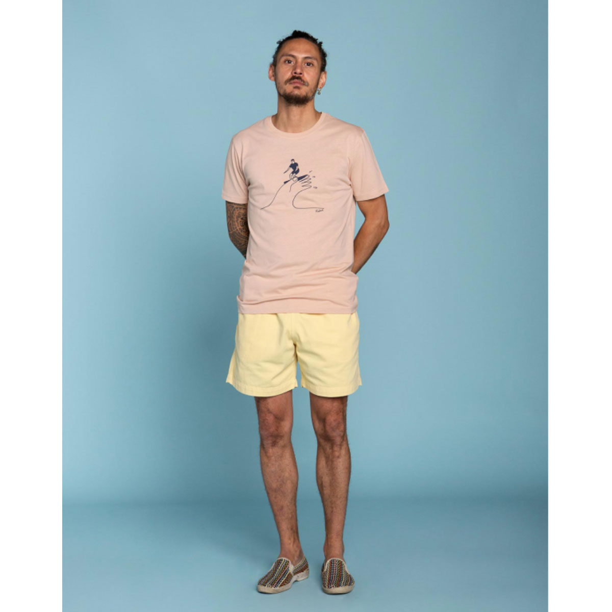 OLOW Tshirt SURF HAND Rose