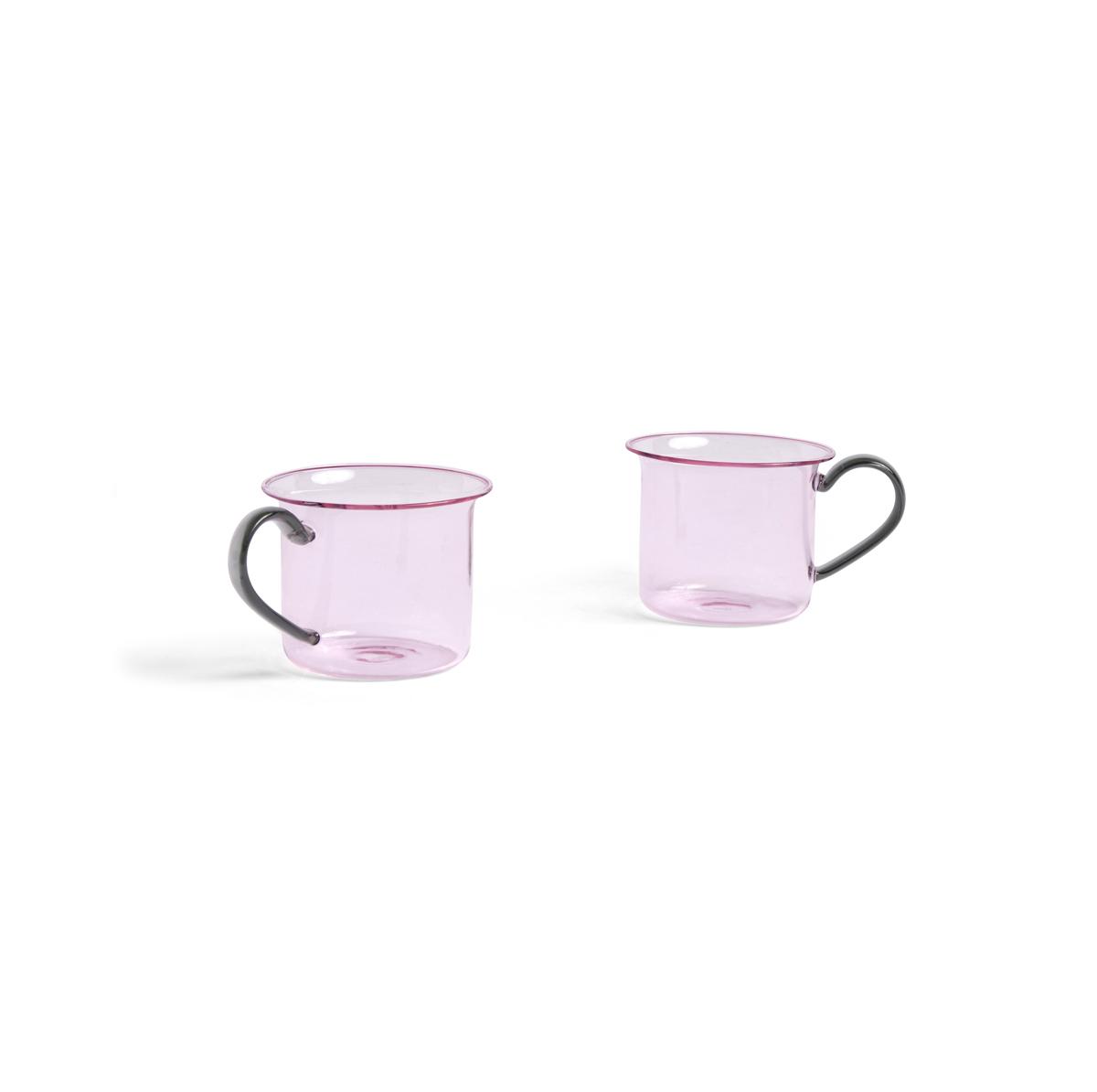 HAY Set de 2 tasses borosilicate rose