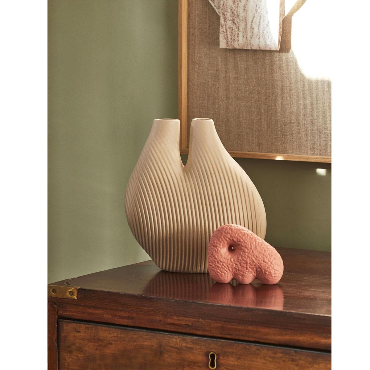 HAY W&S CHAMBER Vase light beige