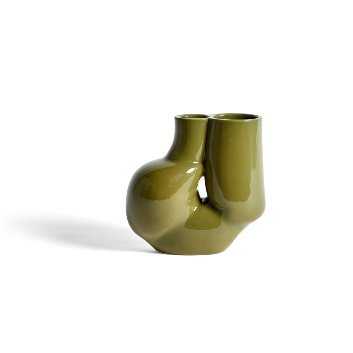 HAY W&S CHAMBER Vase Olive Green