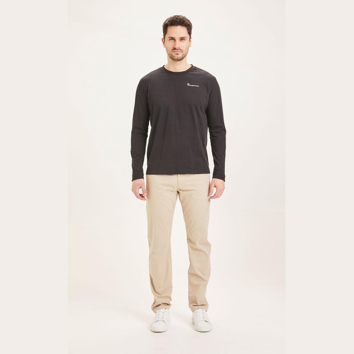 KNOWLEDGE Pantalon Chino poplin CHUCK regular Light feather gray