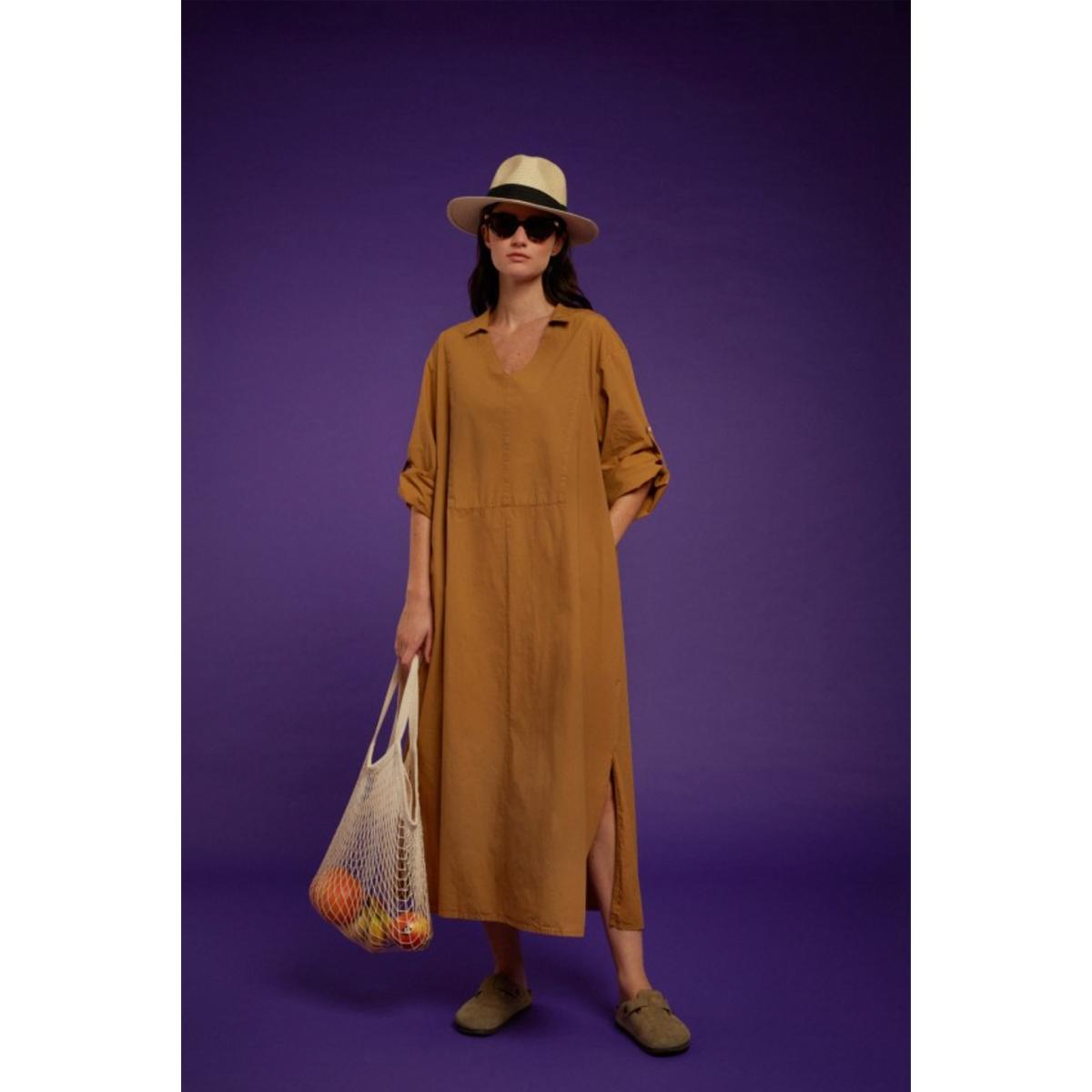 CHLOE STORA Robe MANGUE Camel